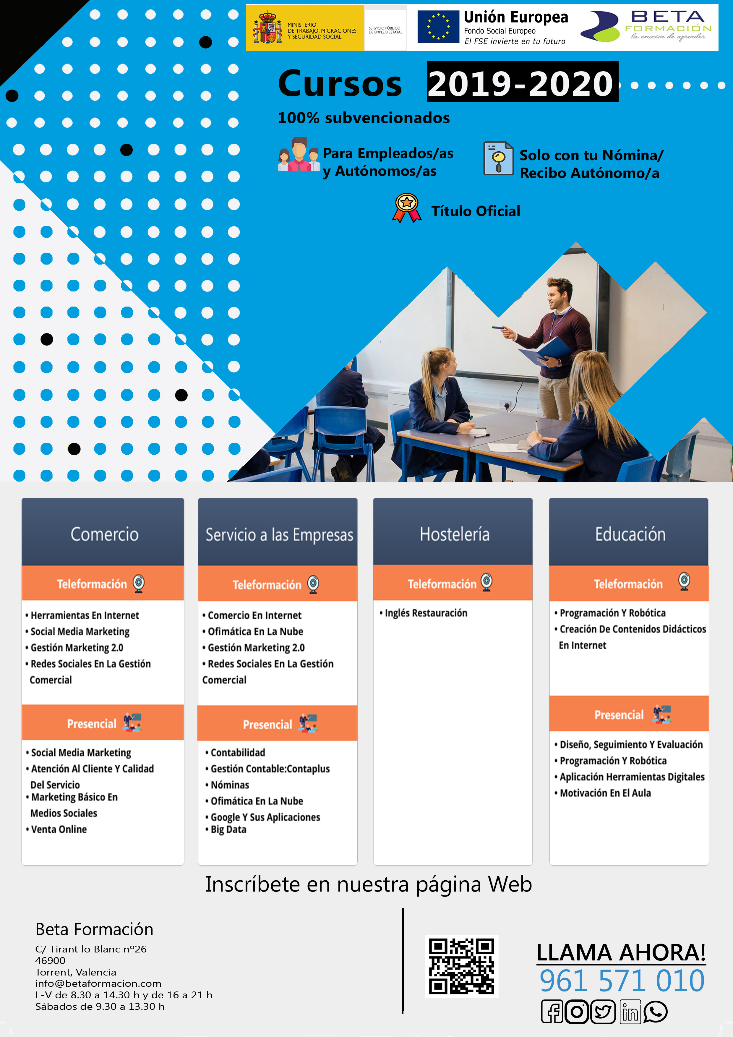 cartelA3 cursos generico - Ofertas
